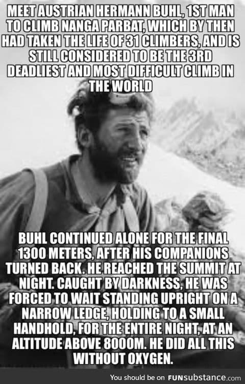 Mountaineering legend