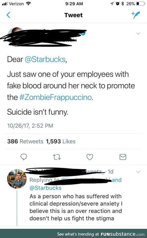 Starbucks upped their trigger game
