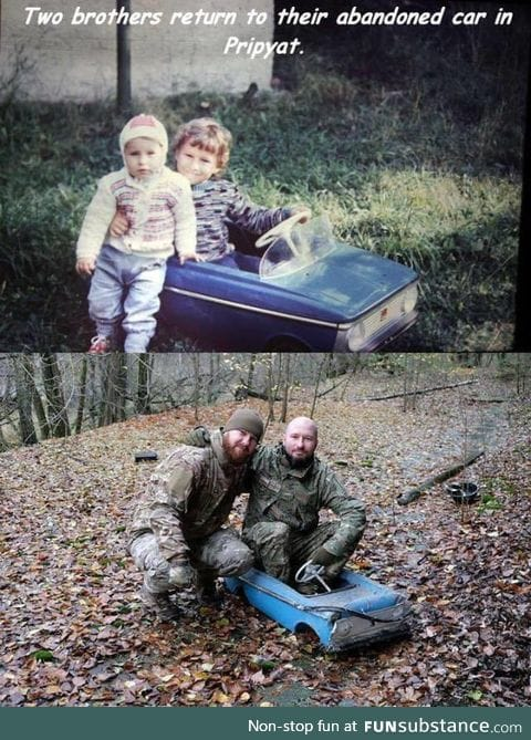 Brothers find their old toy car after 25 years