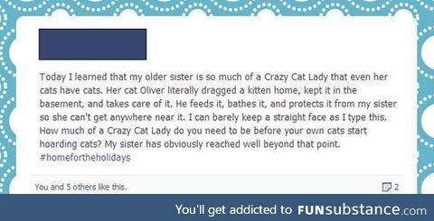 The ultimate cat lady