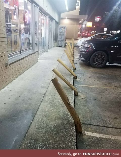 Parking in front of a liquor store