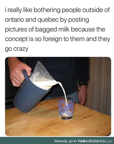 I thought the bag was used Canada wide
