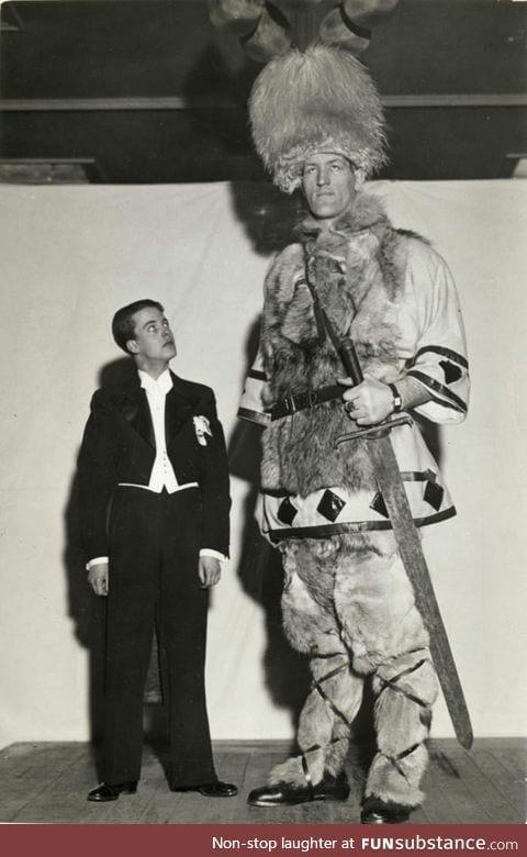 Jóhann k. Pétursson, the Icelandic giant