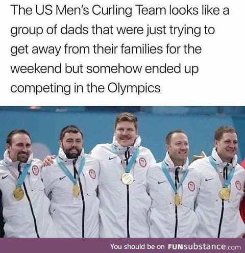 Only dads would be interested in curling