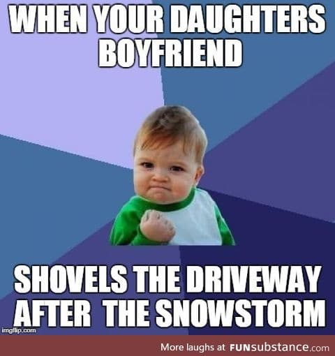 Shovel the driveway