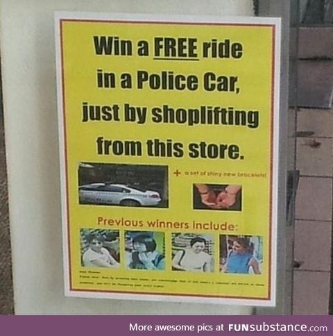 A sign at the store