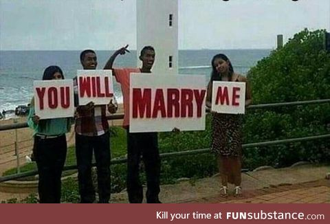 Not sure if they made a mistake, or it's an arranged marriage