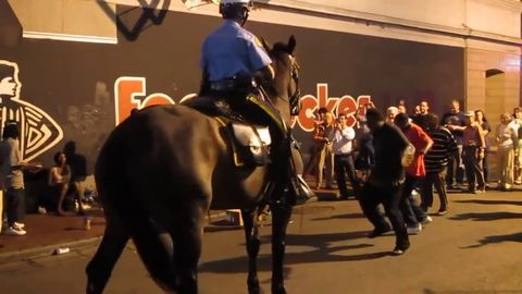 In New Orleans, even the police horses boogie out