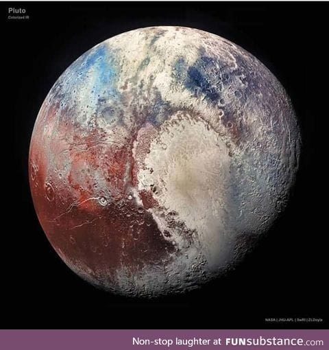 This HD picture of Pluto