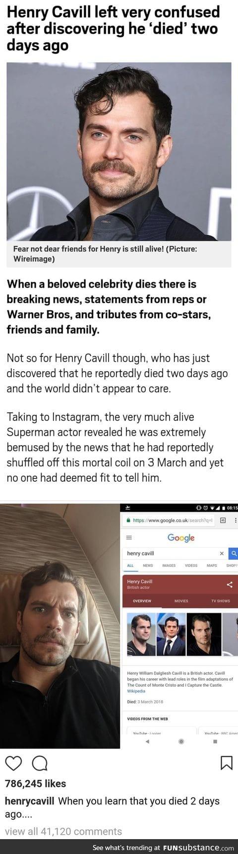 Henry cavil died