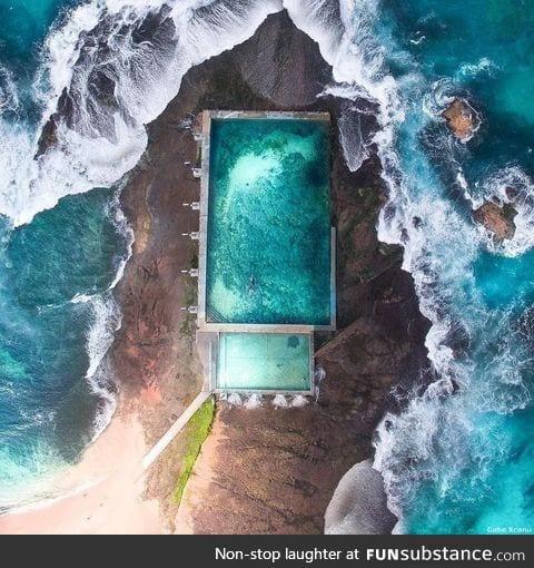 Rock pool in Australia