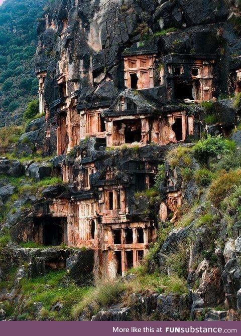 The ruins of the Ancient Greek town of Myra