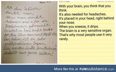 An essay written by one of my mum's third graders