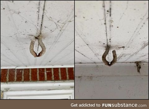 These 80 year old hooks that swung your moms porch swing