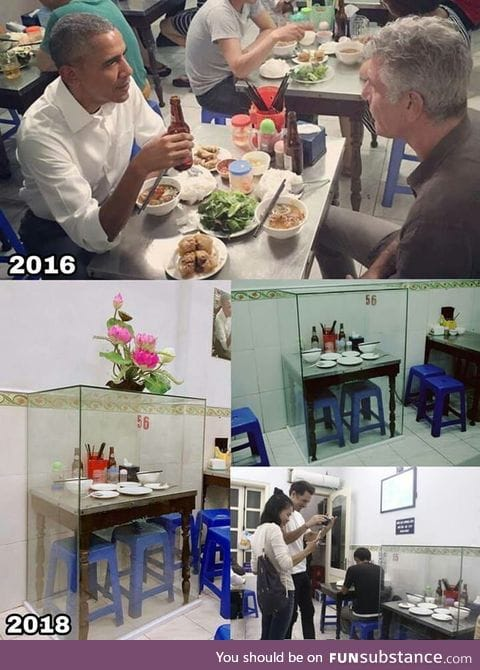 In 2016, Obama and Anthony Bourdain visited this traditional noodle restaurant in Hanoi