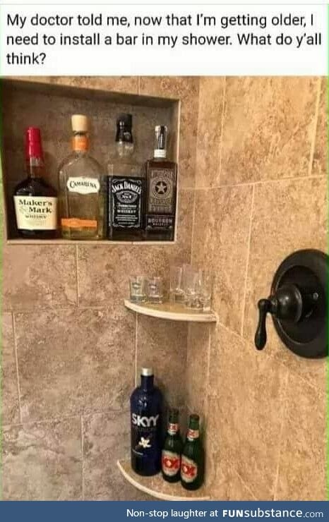 Bar in shower