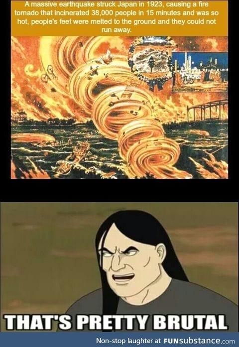 Fire tornado in Japan