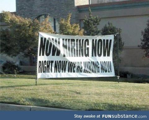 Aggressive hiring tactics
