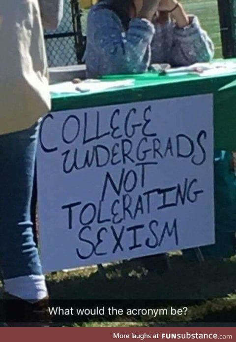 When your acronym doesn't help your cause