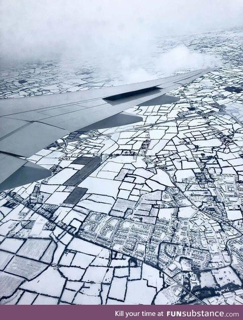 Dublin, Ireland after the recent snow