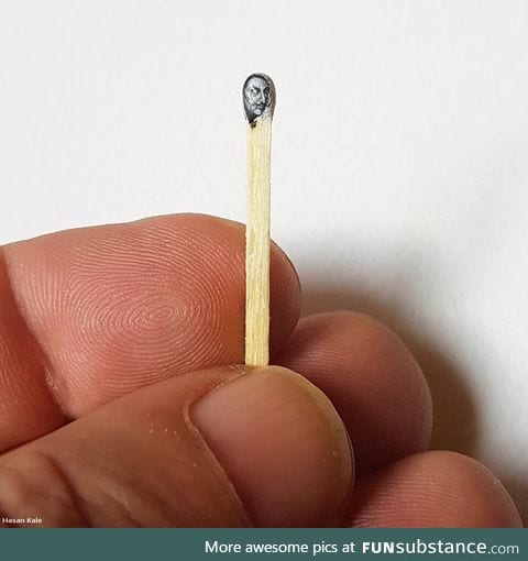 Salvador Dali painted on a match head