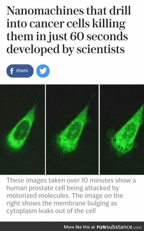 Its nanomachines, son