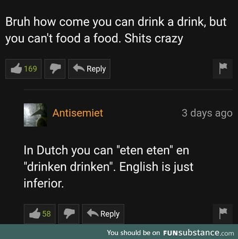Dutch is officially a better language than English