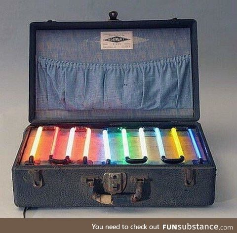 A Neon Salesman's Sample Case From 1935