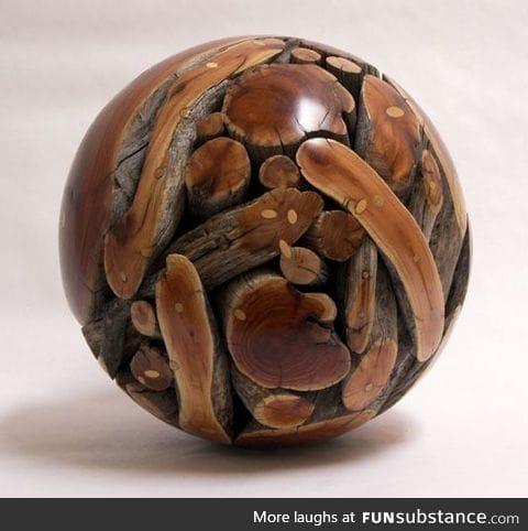 Wood sphere