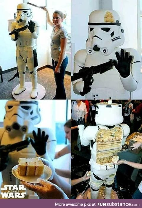Stormtrooper cake done by a bakery in Boston