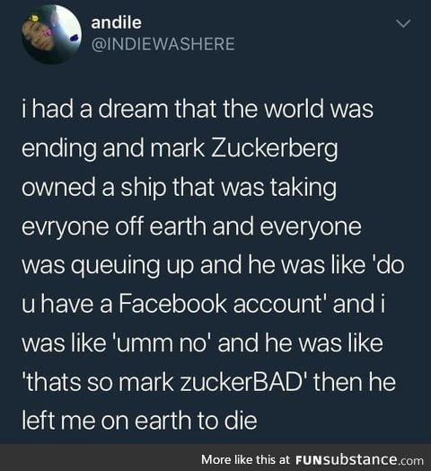 Ha! You just got Zucced
