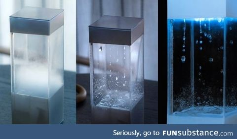 This is a tempescope. It's a weather forecaster in a box