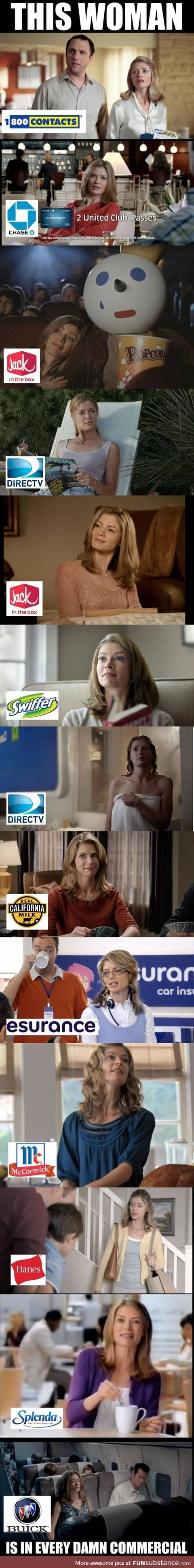 This Woman is in Every Damn Commercial