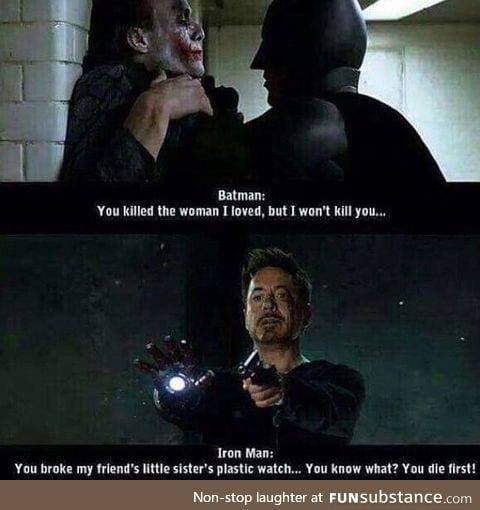 I prefer Tony Stark