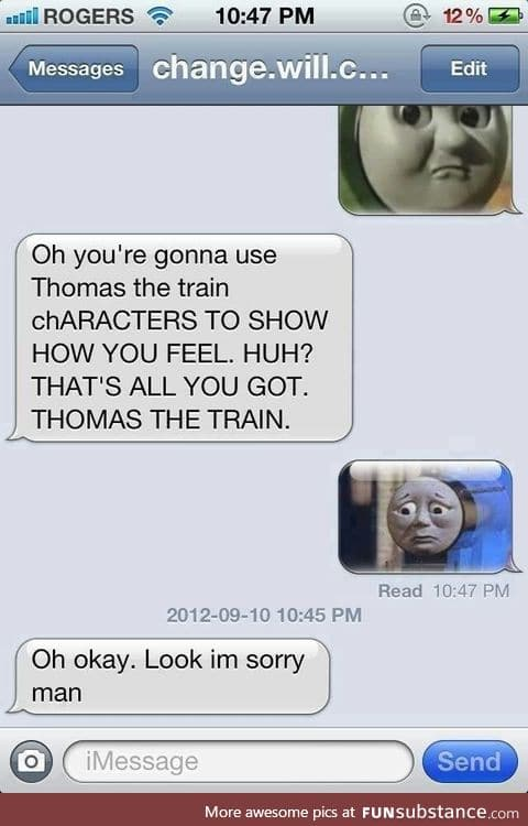 Trains have feelings too