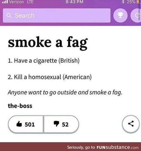 Smoke a Fag