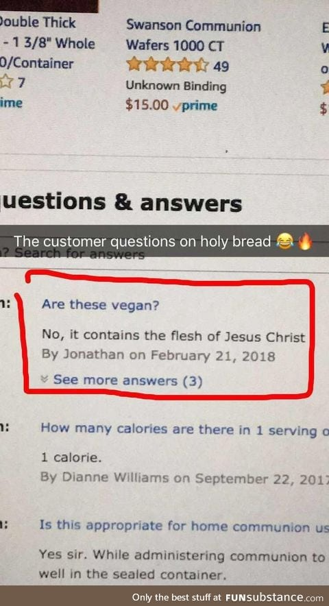 Buying holy bread from Amazon