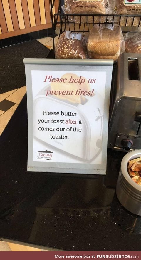 How many times did this have to happen for a sign to be put up?