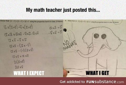 Be a math teacher they said