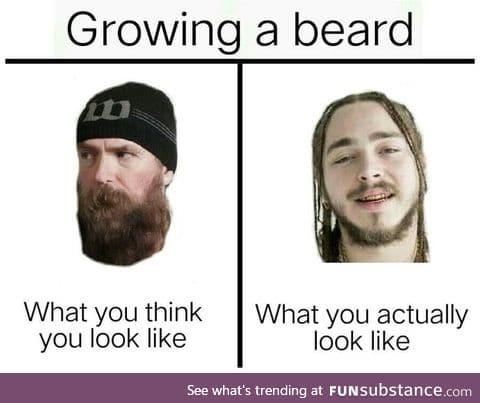 I can't grow facial hair, I grow hair on my face