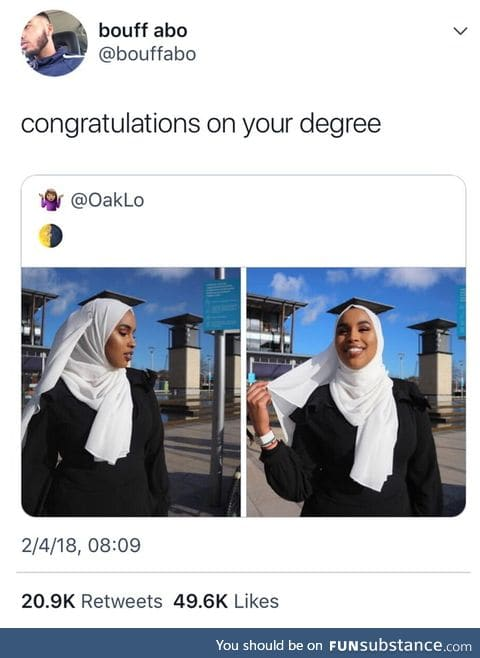 Congratulations on your degree