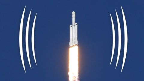 Really cool binaural sound of Falcon Heavy rocket lauching!!