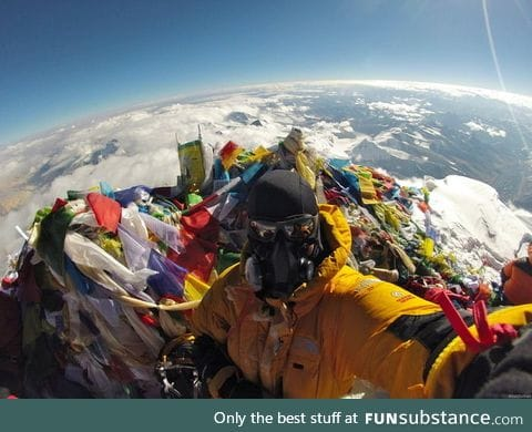 Earth isn't flat at Everest!