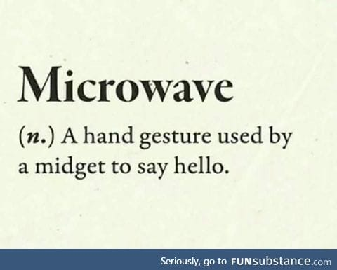 True meaning of microwave