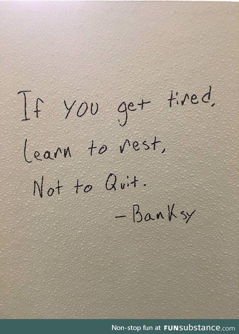 Sometimes bathroom stall graffiti is a good thing