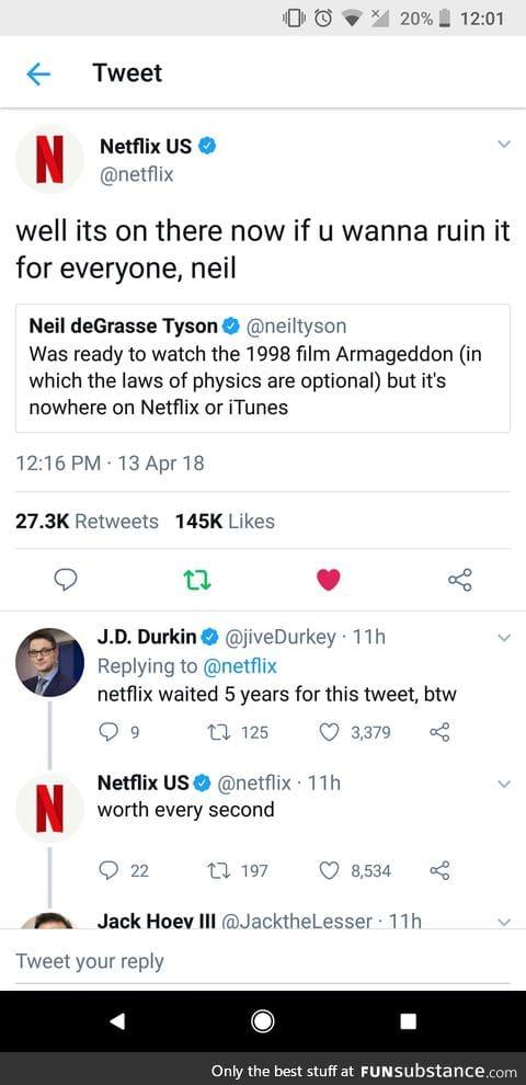 Even Netflix knows
