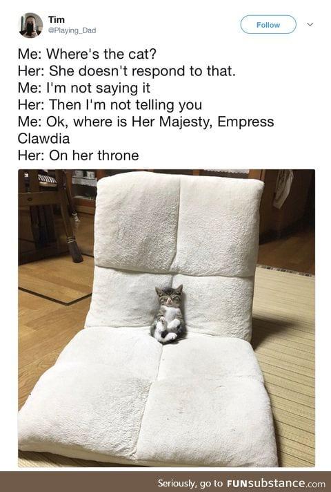 Her majestry, empress clawdia