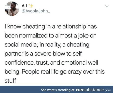 Be loyal or don't date at all