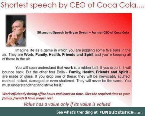 CEO's speech