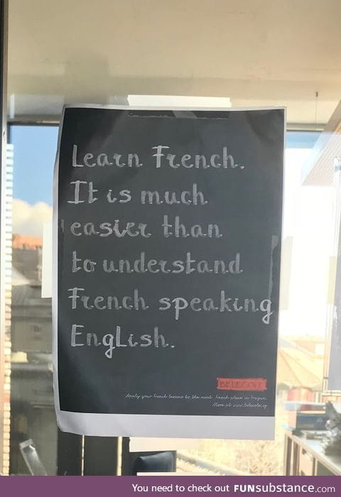 One more reason to learn French